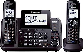 پاناسونیک KX-TG9542B Link2Cell بلوتوث فعال 2 خط تلفن با دستگاه پاسخگو و 2 سیم بی سیم