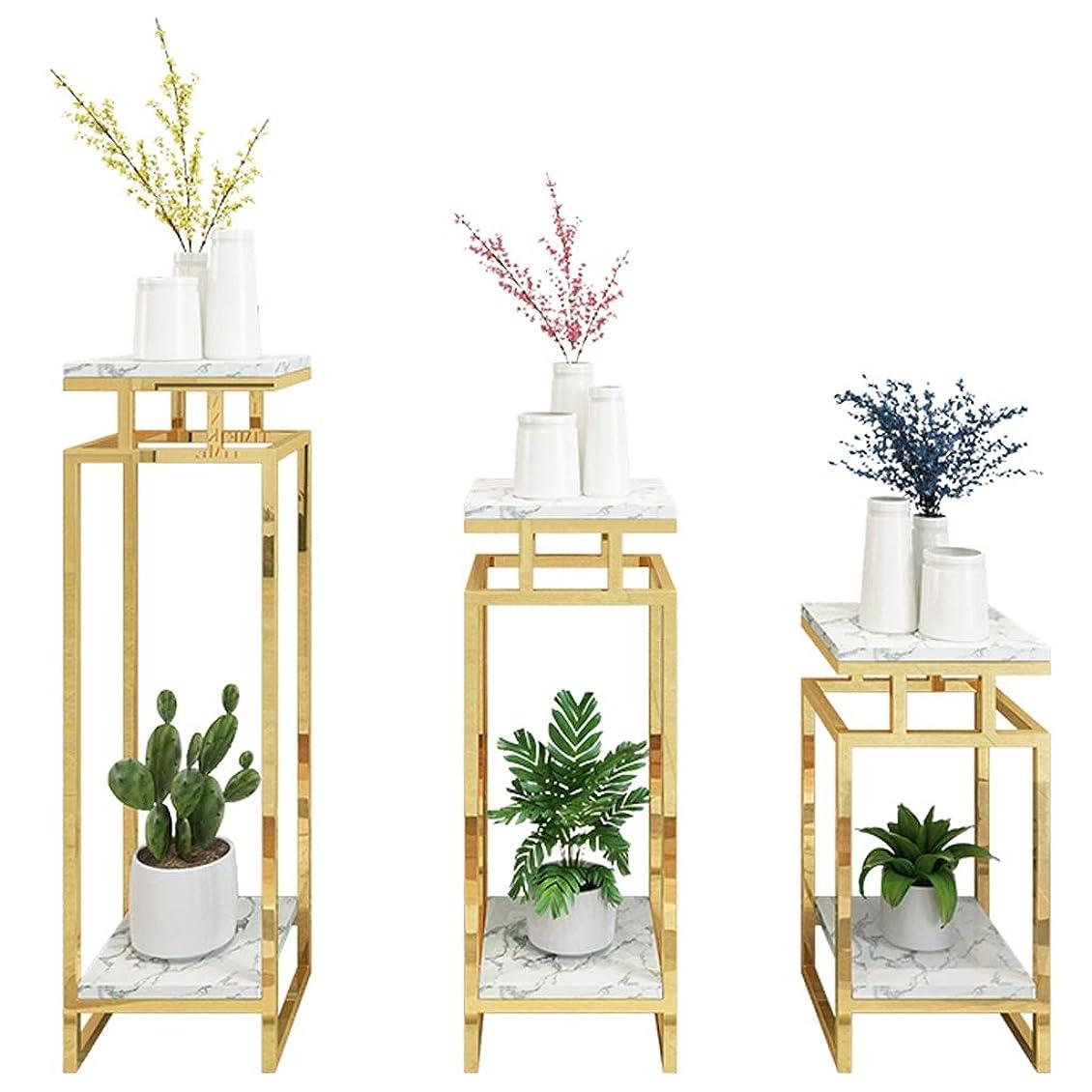 事実米ドル膿瘍2ティアード植物スタンド、バルコニーの装飾屋内メタルフラワースタンドガーデンパティオ棚植物植木鉢、様々なサイズ