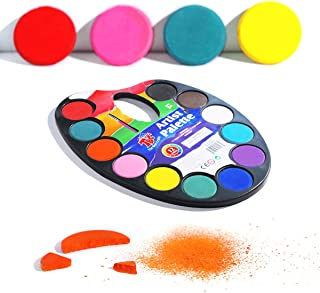 TBC The Best Crafts 12 Colors Watercolor Cake, Artist Paint Palette with Paint Brush, Educatioanl School Art Supplies for Kids, Early Learning Art Tools for Kids
