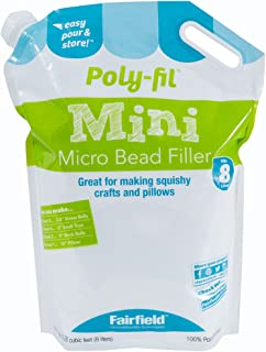 Fairfield PFMBST Poly-Fil Micro Beads, 8 L, White