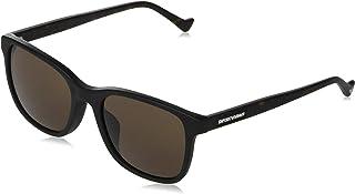 نظارات شمسية من إمبوريو أرماني EA 4139 F ملاءمة اسيوية 501773 أسود مطفي