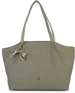 Baggit Autumn-Winter 2020 Faux Leather Women's Tote Handbag (Green) (Pintuck)