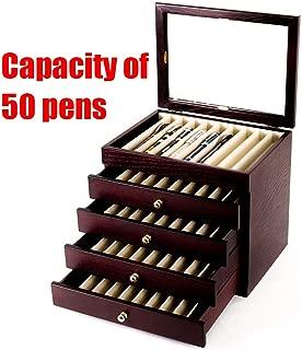5 Layer Fountain Pen Storage Box Fountain Pen Wooden Display Case Organizer Holder Storage Collector Box 50 Pens (US Stock)