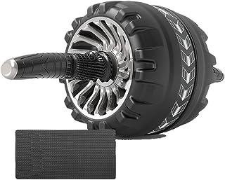YUMOA アブホイール 腹筋ローラー 3輪 アブローラー エクササイズローラー 超静音 膝マット付き 組み立て簡単 腹筋 トレーニング器具 エクササイズウィル 体幹 ストレッチ ダイエット器具 自宅用