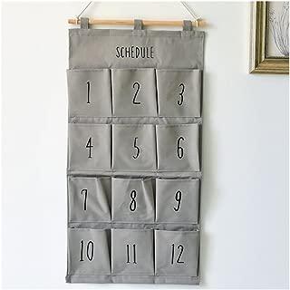 Beige Panier de rangement Morbuy Cadeau de No/ël Petit B/éb/é lin de rangement Jeux Panier organiseur en tissu avec 2 poign/ées sur les deux c/ôt/és 36.7 x 26 x 38 cm