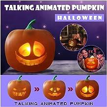 Halloween praten geanimeerde pompoen met ingebouwde projector & luidspreker, 3 in 1 Halloween Flash praten geanimeerde led...