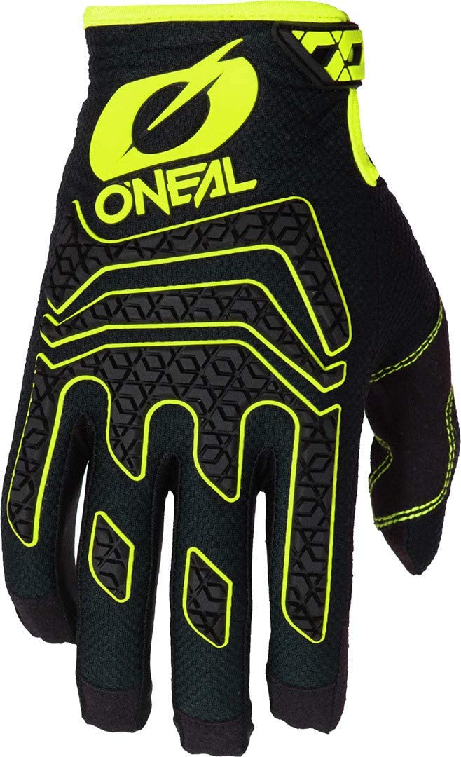 O Neal Bicycle Motocross Gloves Mx Mtb Dh Fr Downhill Freeride Durable Materials Silicone Print For Grip Sniper Elite Glove Adult Black Neon Yellow Size S Sport Freizeit