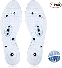 CHARMINER Acupressure Magnetic Massage Insoles, Foot Therapy Reflexology Pain Relief Washable and Cuttable Shoe Insoles Suitable for Women and Man 1 Pair(25cm-27cm)