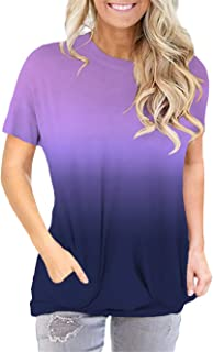 onlypuff Pocket Shirts for Women Casual Loose Fit Tunic...