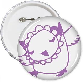 DIYthinker Cartoon Oiseau simple Dessin de ligne Protéger Round Pet lover animaux Pins Badge Bouton Vêtements Décoration c...