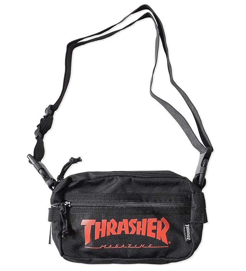 危険にさらされている相互接続近似THRASHER スラッシャー ショルダーバッグ サコッシュ カバン MAGロゴ (THRSG400) O/S BLACK/RED