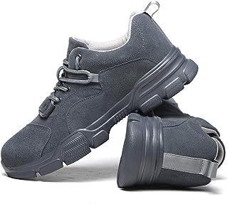 QHENS Calzado De Seguridad Mujer Mujer Comodas Con Punta De Acero Calzado De Trabajo Aire Libre Calzado Deportivo Suave Y ...