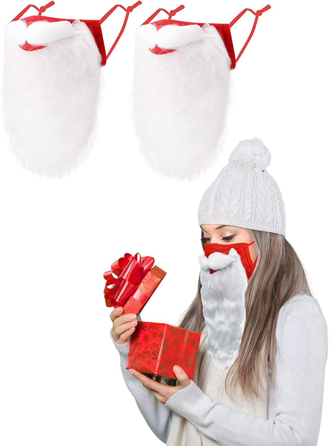 Christmas Santa Ranking TOP6 Beard Face_Mask for Mail order Novelty M Adult Holiday Red
