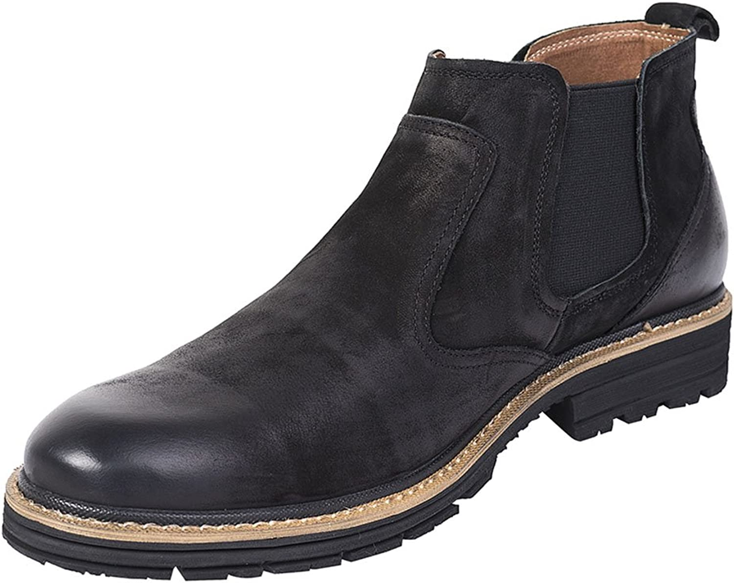 IFITNA Men's Capitol Suede Ankle Chelsea Boot Full Grain Leather