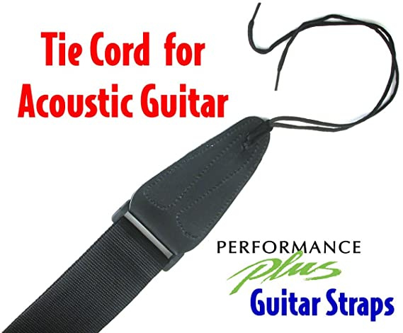 Red Performance Plus GS1R Electric//Acoustic Guitar Strap with Ties