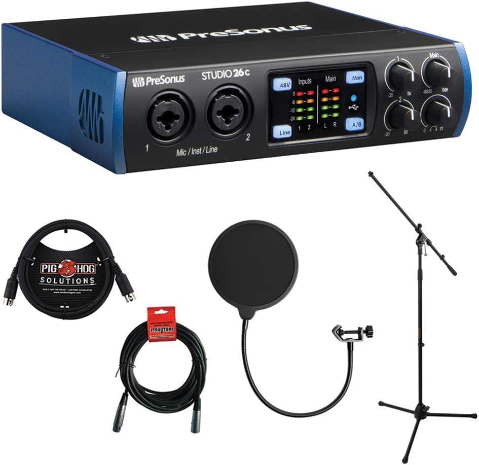 Outlet ☆ Free Shipping Max 89% OFF PreSonus Studio 26c 2x4 USB Type-C Audio MIDI Kel Interface with