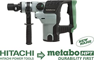 Metabo HPT DH38YE2 8.5-Amp Electric Rotary Hammer, 1-1/2-Inch Spline Shank, Adjustable 360 Degree Side Handle, Safety Clutch, Includes Hard Case, Dust Cover & Depth Stopper