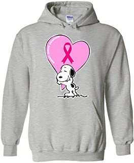 Support Breast Cancer Awareness Costume Snoopy Hoodie