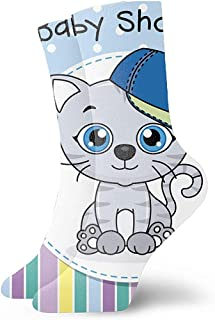 Be-ryl, Calcetines de Vestir Divertidos para Hombres/Mujeres -Bebé-niño-ducha-tarjeta-vector-20611014 Calcetines Divertidos Coloridos Divertidos y novedosos