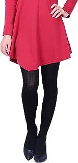Women's Knit Winter Tights Herringbone Textured Opaque Spandex Stockings