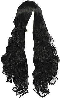 Cosplay Wig Prom Headgear Lolita Shape Women's Synthetic Wig Black Fashion Long Curly Fluffy Hair Wig Accessory