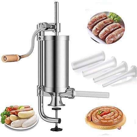 Kit di riempimento per carne in lega di alluminio durevole per insaccatrice per salsicce per uso domestico 2 LB.