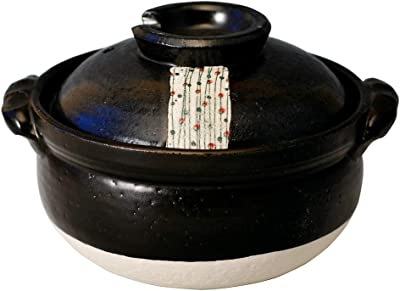 CtoC JAPAN Select 土鍋 マルチ 5.5号 M0262 雑炊鍋 黒玉すだれ 萬古焼 日本製 入り 個セット