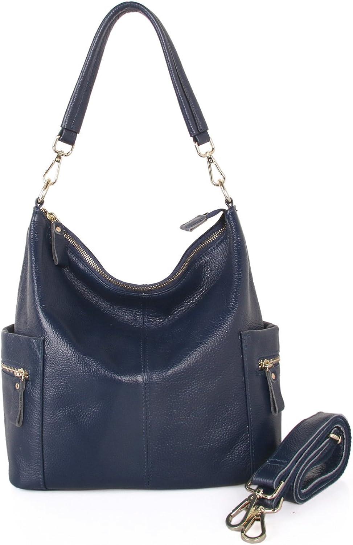 Giustino Womens Genuine Leather Handbag Shoulder Bag TopHandle Handbags, bluee
