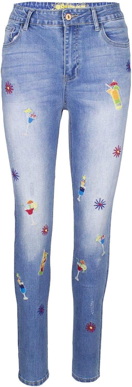 Desigual Women's 19SWDD08blueE bluee Cotton Jeans