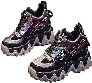 Sneakers Chunky da Donna Scarpe con Plateau di Moda all'aperto Scarpe da Donna Zeppe Tacco Alto 7 cm Scarpe Sportive in Pe...