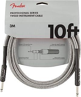 Fender 099-0820-063 Câble pour instrument de série professionnelle - 10 pi - STR/STR - Tweed blanc