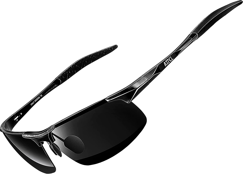 ATTCL Men's Fashion Driving Polarized Sunglasses for Men - Al-Mg metal Ultralight Frame