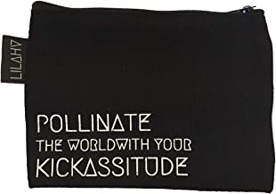 Zipper bag with Affirmation. Pollinate.