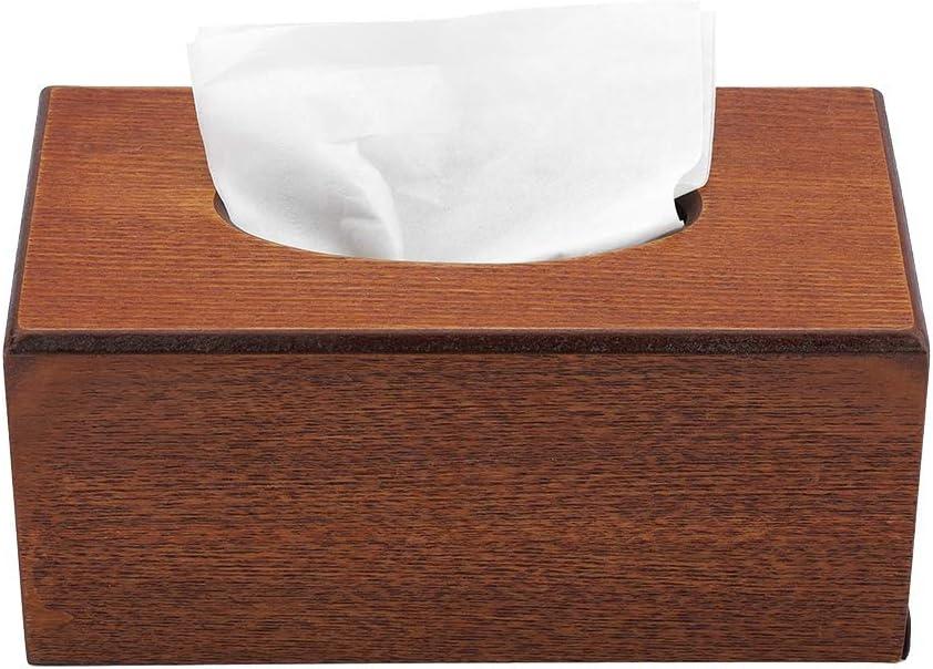 Sorand Tissue Box Holder Wood Max 54% OFF Cover Latest item Bathroom Rectangular