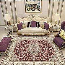 Alfombra Grande Infantil rojo Alfombra de salón alfombra roja antiácaros con estampado floral de estilo retro duradera Moqueta Negra Los 50X80CM Alfombras De Habitacion Grande 1ft 7.7''X2ft 7.5''