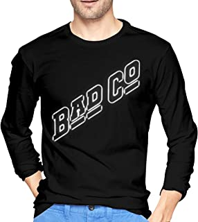 Men's Bad Company Comfort Long Sleeve tee Black Unique Design tee T-Shirts Tops