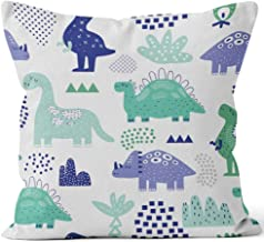 Hand Drawn Dinosaurs Seamless Pattern Creative Childish with Cute Dino for Fabric Burlap Pillow Home Decor Throw Pillow Cover Cotton Linen Cushion,HD Printing for Couch Sofa Bedroom Livingroom Kitche