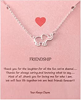 necklace with message card