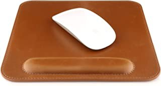 OTTO Leather Mousepad with Wrist Rest (Light Brown)