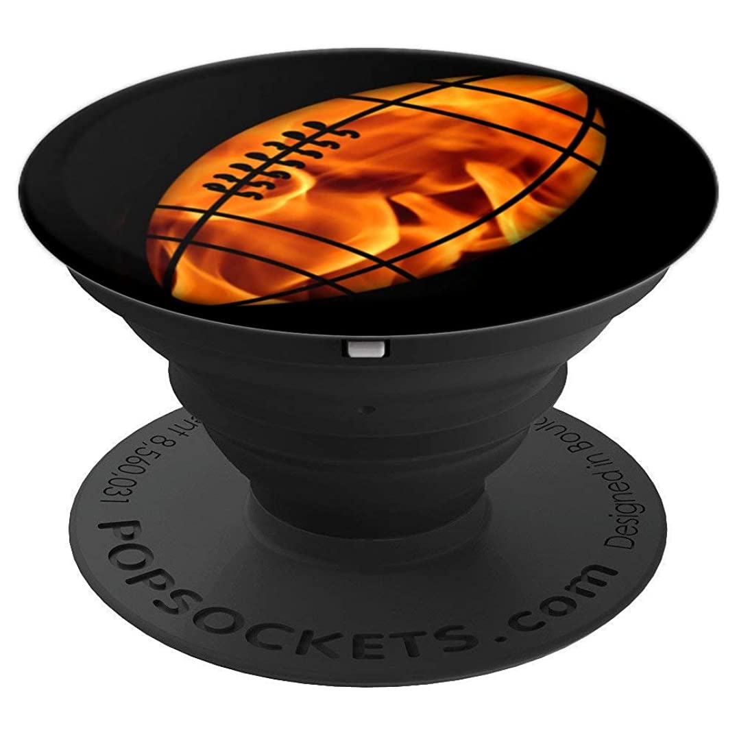 American Football and fire, flames phone grip for men - PopSockets Grip and Stand for Phones and Tablets