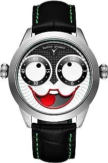 Men Watch Quartz Waterproof Watches Joker Stylish Design Stainless Steel Leather Strap Wrist Watch for Men