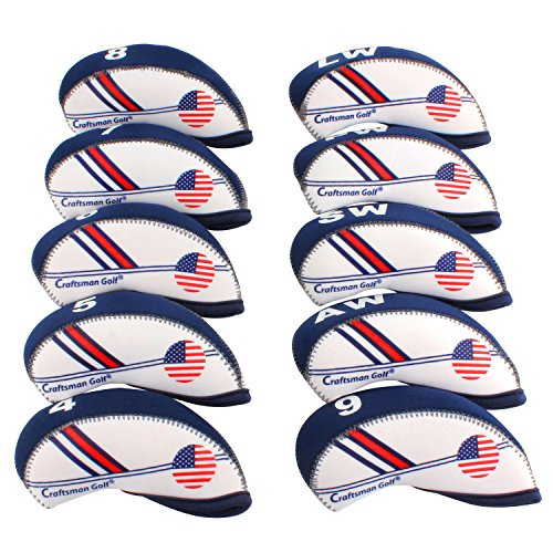 Craftsman Golf White & Blue US Flag Neoprene Golf Club