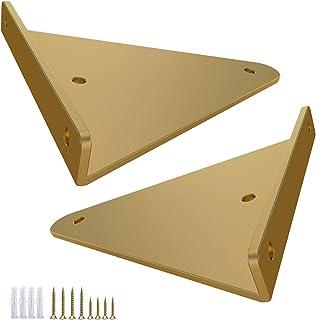 YJJT Wandhouder voor plankhoek metalen plankdragers zwart - 1 paar hoekconsole hoek driehoekig wit - plankdragers onzichtb...