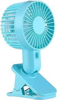 SHANGRUIYUAN-Mini Fan Multifunction Portable Electric Fans USB Table Stand Fans Mini Personal Hand Desktop Fan Clip Double-Leaf Fan (Color : Blue)