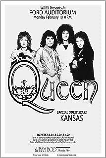 Raw Sugar Art Studio Queen/Kansas 1975 Detroit Concert Poster