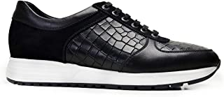 2922-DEC EXLDEC-Antik Siyah 201 - Vento Siyah - Sü Nevzat Onay Bağcıklı Siyah Günlük Deri Erkek Ayakkabı