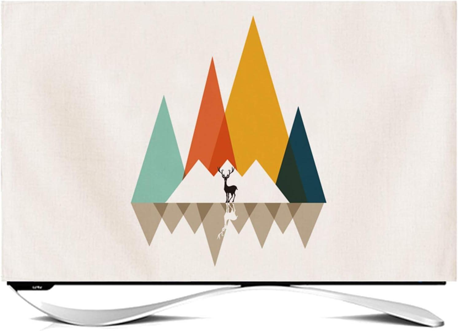 Max 47% OFF NANKAN Max 64% OFF Indoor TV Cover 24''-65'' Fabric Proof Linen Cotton Dust