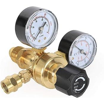 Argon//CO2 REDUCER Pressure regulator 2 rotameter Welding gas TIG MIG 6,3mm 25l//m