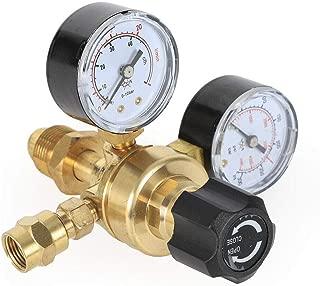 Argon CO2 Flow Meter Regulator Gauge, 4000PSI Gas CGA580 Welding Welder, Pressure Control Fitting ARG/CO2 Gauge Miller Mig Tig, Brass Regulator Body