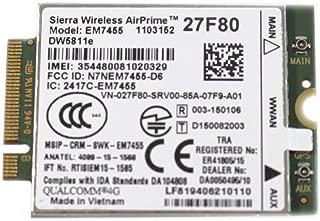 EbidDealz Wireless 5811E DW5811e M.2 Mobile Broadband 4G LTE WWAN Card 27F80 CN-027F80 EM7455